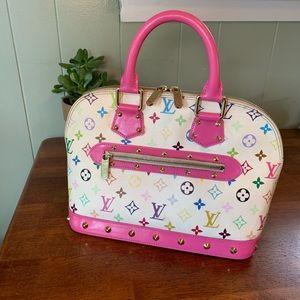 💕 😍 Louis Vuitton Multicolor Alma Hot Pink